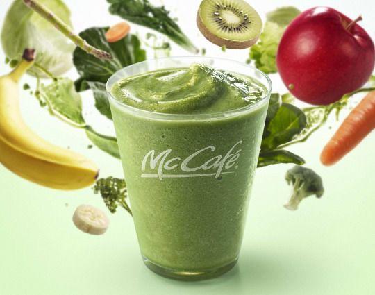 マックカフェ1食分の野菜がとれるグリーンスムージーレギュラーメニューに新登場