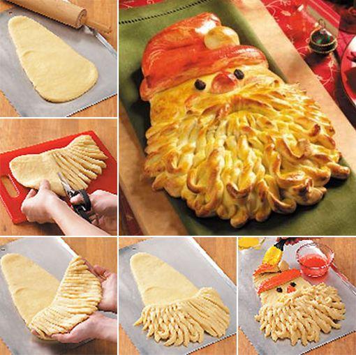 Golden Santa Bread http://www.handimania.com/cooking/golden-santa-bread.html