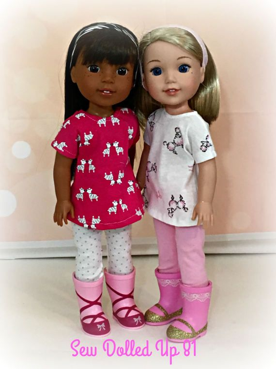 Pretty in Pink Legging Sets for 14 inch dolls