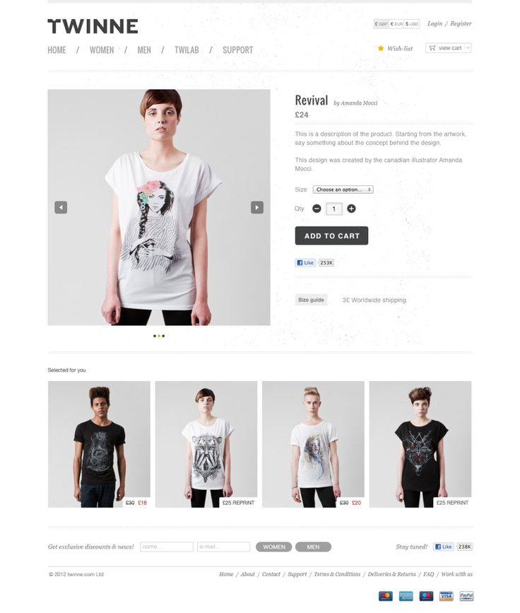 twinne new single p preview 12 Examples of Minimal & Clean E Commerce Design