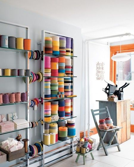 Bookmaker Angela Liguori's studio