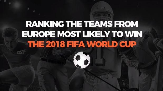 Predicting the 2018 World Cup Top European Teams
