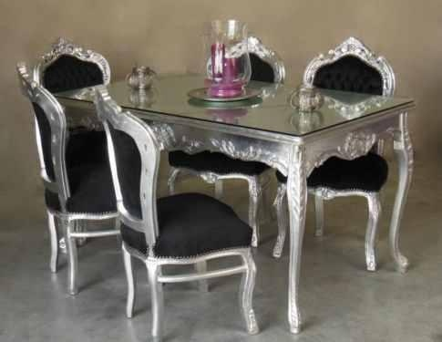187 best dining room images on pinterest for Baroque dining table set