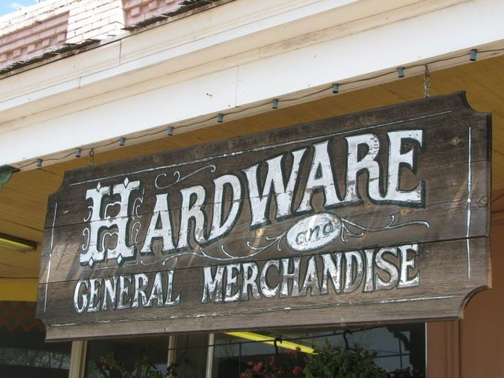 vintage hardware store signs - Google Search