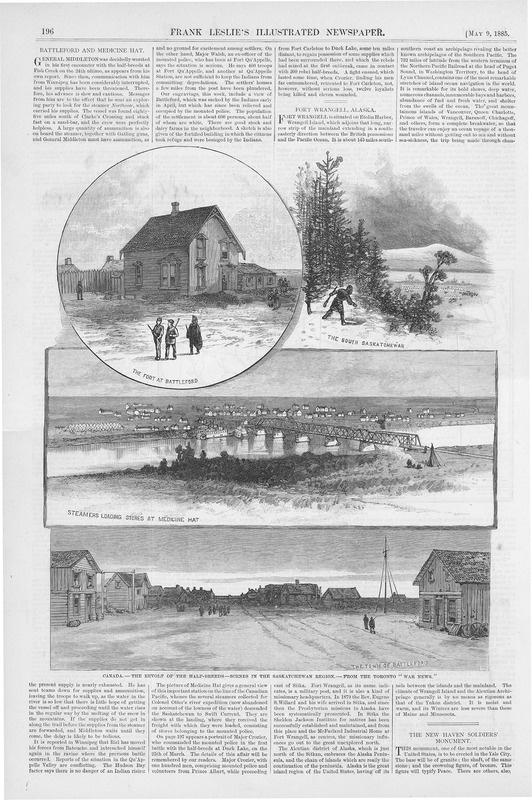 Battleford and Medicine Hat Newspaper clipping   saskhistoryonline.ca
