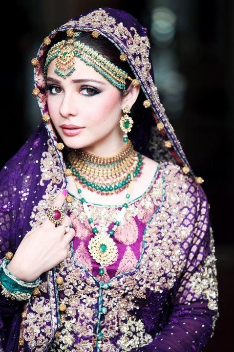 Beautiful Purple Stani Model Juggan Kazim Make Up Uzma S