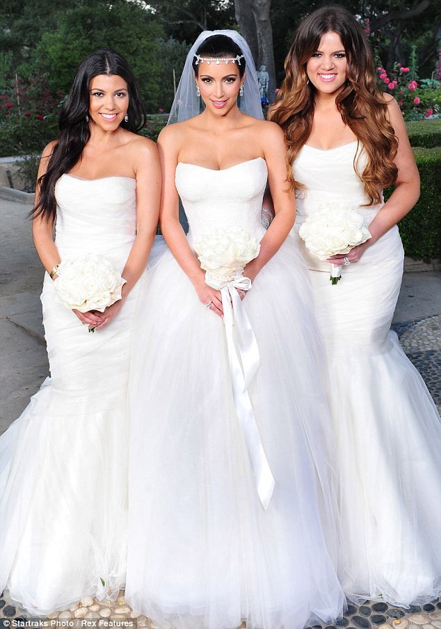 Aisle Perfect Celebrity Bridesmaid Dresses White Runway Blog Kim Kardashian Wedding Dress Ball Gowns Wedding Celebrity Wedding Dresses