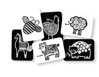 Wee gallery art flash cards, frame for nursery. #baby #nursery #wall