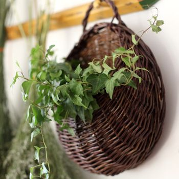 free shipping! Willow hanging flower vase flower basket flower pot balcony flower wall natural material circle rustic