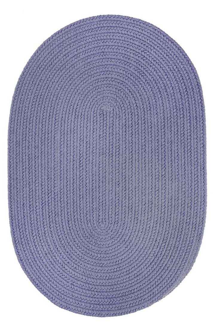 Solids S028 Marina Blue Indoor Outdoor Braided Rug