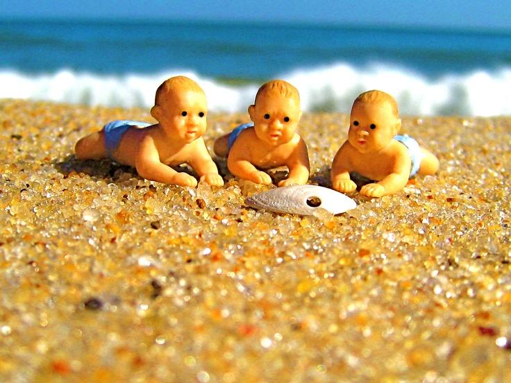 East Hampton Main Beach Triplets