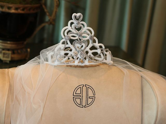 Brides Tiara from Bridal Shower at Bergdorf Goodman...Photo by Bill Mueller by Wendy The Pipe Cleaner Lady, via Flickr