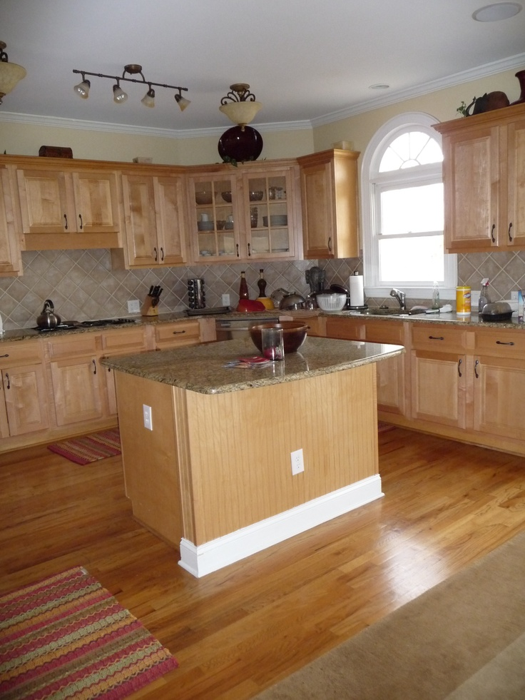 1000 ideas about red oak floors on pinterest red oak for Bleached maple kitchen cabinets