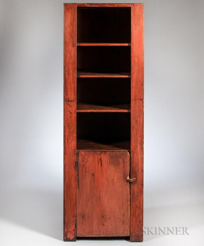 Red-painted Pine Chimney Cupboard - Price Estimate: $1500 - $2500