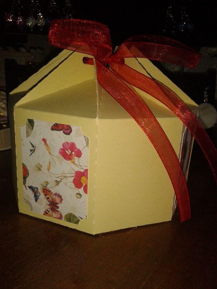 3D 8 sided milk carton box