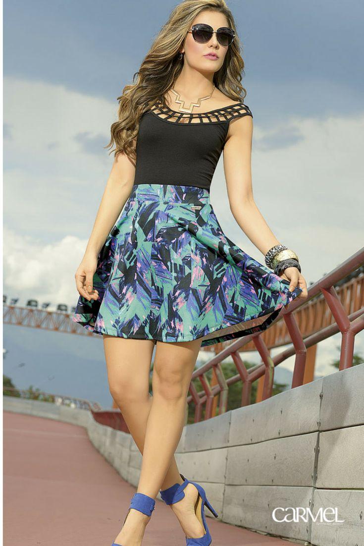 #Moda #FaldaPatinadora #Body