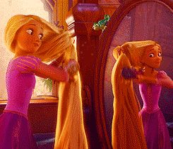 Pin for Later: 26 Moments Every Beauty Junkie Has Experienced in Disney GIFs When you're trying to get ready in the morning but your hair just won't cooperate. Source: Disney