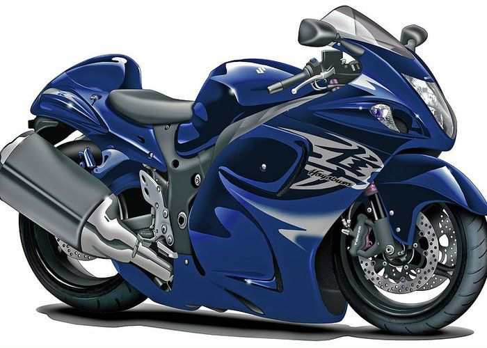 Suzuki Hayabusa Dark Blue Bike Greeting Card For Sale By Maddmax