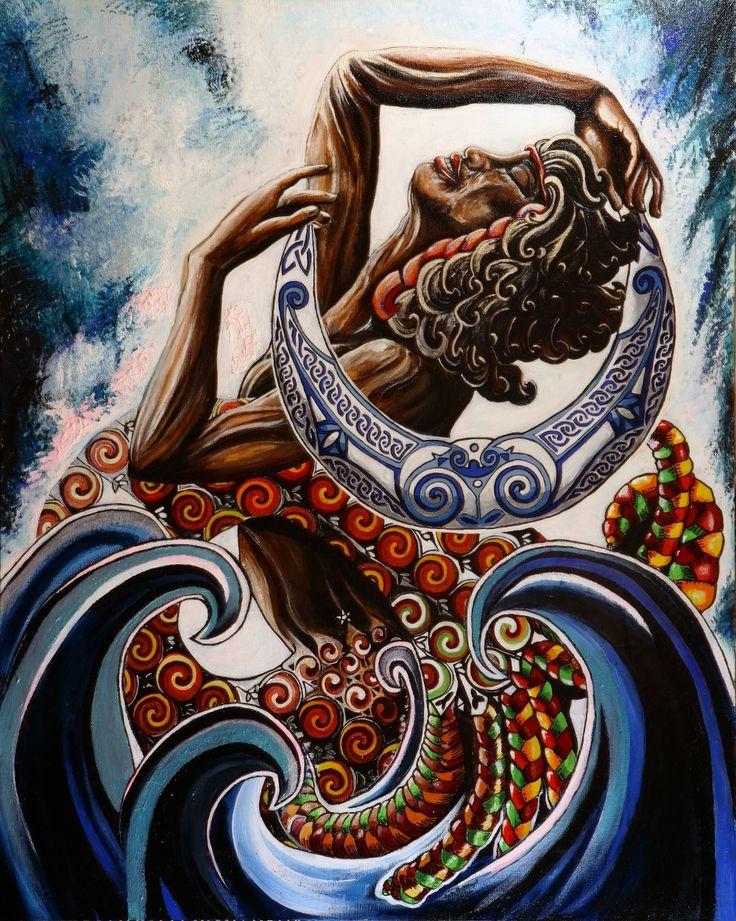 Yemaya. They call her the goddess Yemaya, Ymoga (Mother of the Fishes), Iamanga…