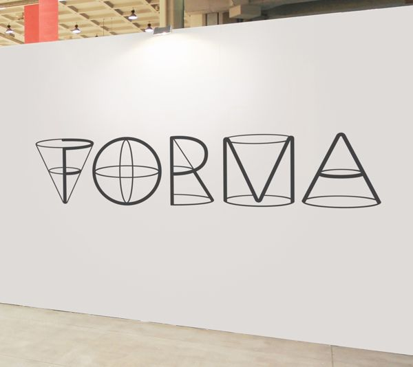 FORMA entrance wall to exhibition. using type to convey the concept of the exhibition