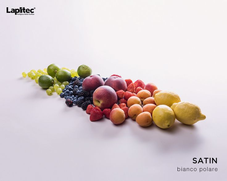 """""""Clean eating"""" isn't just about diet. Lapitec®'s Satin finish in Bianco Polare is non-porous, scratch-resistant and antibacterial, making it the perfect kitchen countertop."""