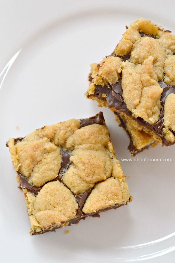 These Chocolate-Peanut Butter Cake Mix Cookie Bars are oh-so decadent and incredibly simple to make!