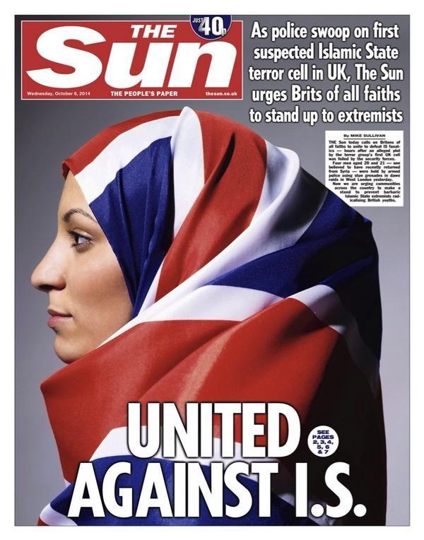 The Sun Newspaper - integration uk flag