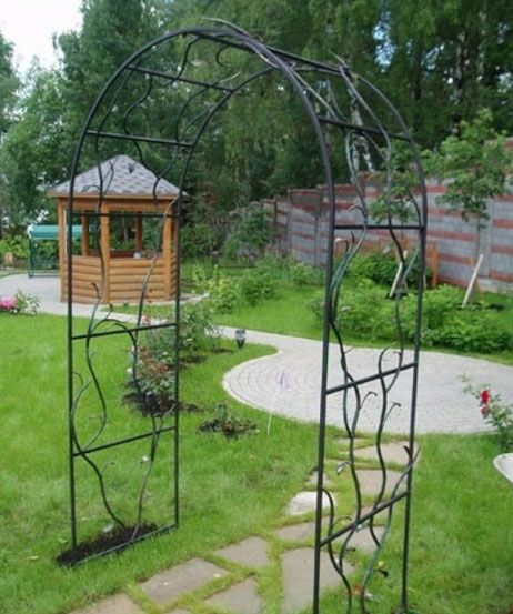 Садовые арки для цветов - виды, фото вариантов. Как сделать арку своими руками?