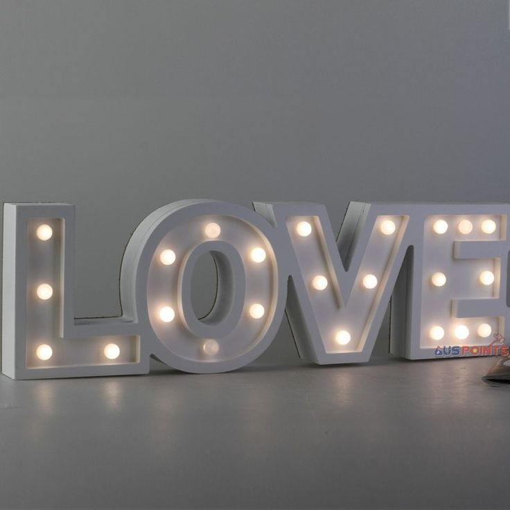 wooden led letter 39 love 39 light sign battery marquee wood With wooden marquee letters led