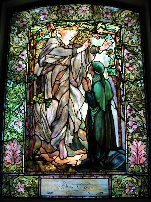 The Annunciation (Tiffany stained glass memorial window, designed c1898, installed 1900)
