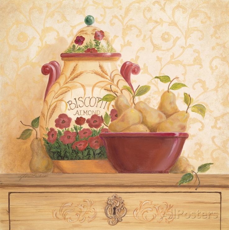 Biscotti Jar I Prints by Gloria Eriksen