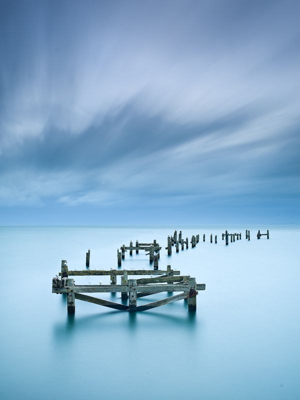 Cold winter morning, Swanage Pier, Purbeck Dorset, England