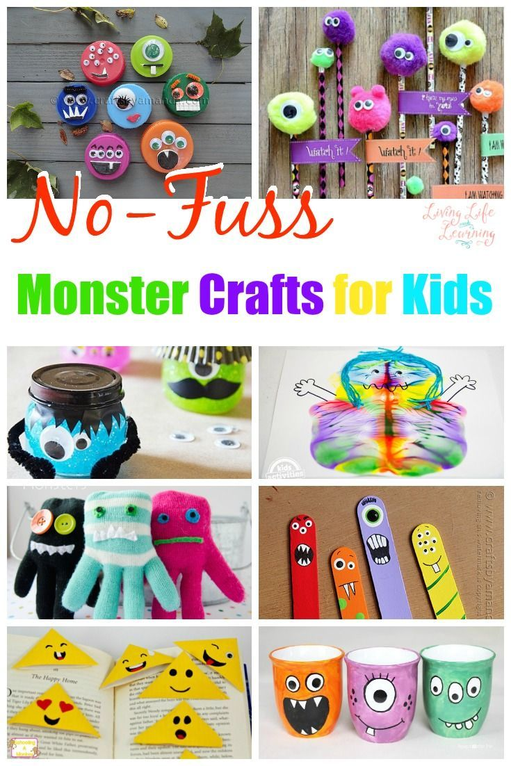 12 no fuss monster crafts for kids theyll love any time of year halloween crafts for kidscheap - Cheap Halloween Crafts