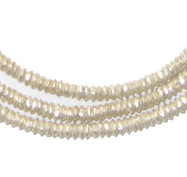 Los 400 espaciadores etíopes Heishi plata granos - granos de plata africano de 3mm - Metal - joyería que hace fuentes - hecho en Etiopía (MET-HSHI-SLV-265)