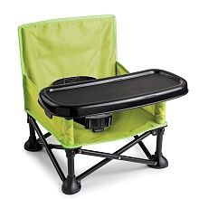 Summer Infant Pop n Sit Portable Booster - The Pop n Sit Portable Booster supports on-the-go lifestyles and makes feeding time easy with a removable, BPA free tray, innovative pop and fold set-up, and over the shoulder carrying bag.<br><br>6M 37lbs</br><br>Lightweight, folding frame. Sets up in seconds. Includes 3-point safety harness. Includes chair safety straps for use on adult chair.</br><br>Detachable, dishwasher safe tray (BPA free)</br><br>Durable construction for indoor or outdoor…