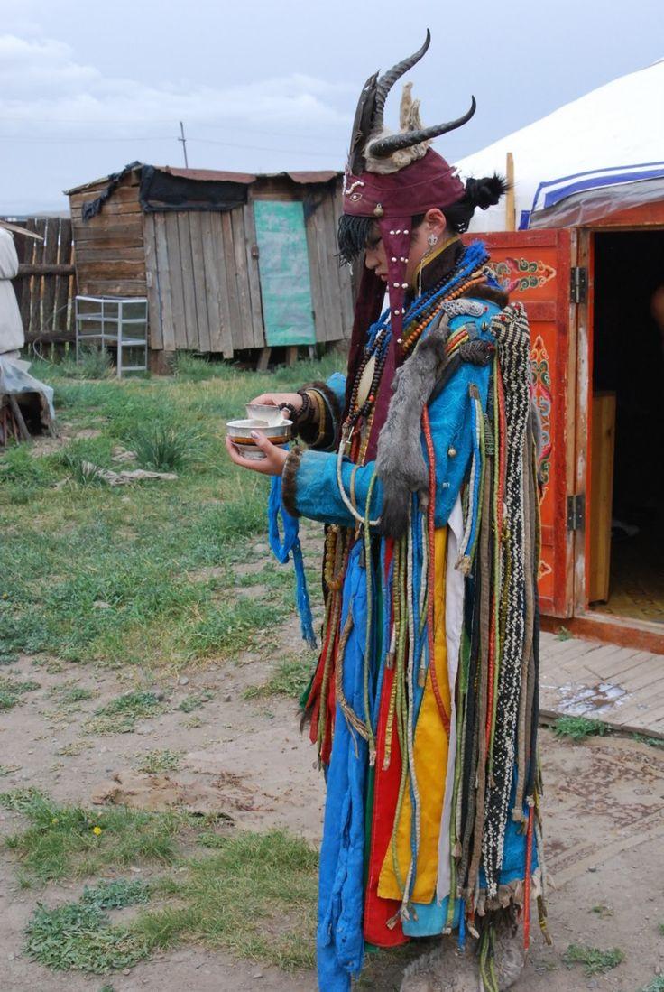 Female Shaman in Mongolia