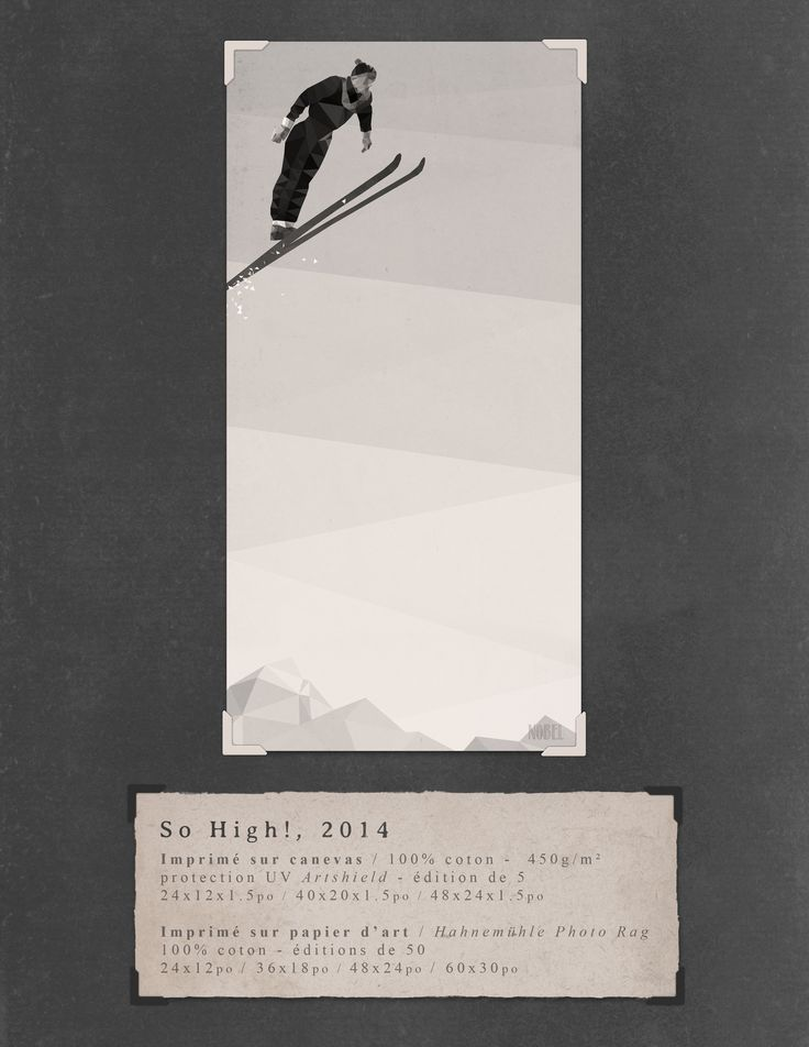 So High!, 2014. 60x30in. #print on canvas & print on #Hahnemühle Photo Rag. Limited edition. #chic #shack #shabby #vintage #skier #ski #winter #mountain / Artist is Boris Nobel / Taken from his portfolio.