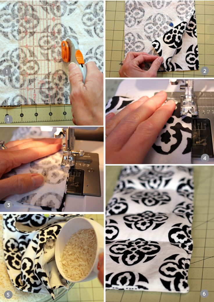 DIY: Homemade Heating Pad! All you need is soft flannel fabric, a sewing machine and rice <3 #MyVeganJournal