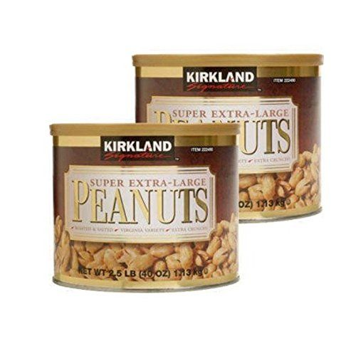 Kirkland Signature Super Extra-Large Peanuts Roasted and Salted 2.5 lbs (Pack of 2) >>> Click now. Unbelievable product right here! - Fresh Groceries