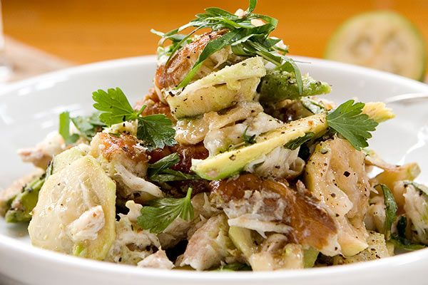 Smoked fish salad with feijoas and Vietnamese mint – Recipes – Bite