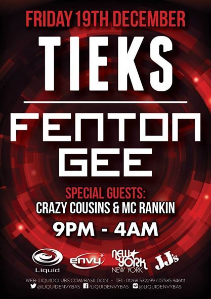TIEKS / FENTON GEE / CRAZY COUSINS 19.12.2014