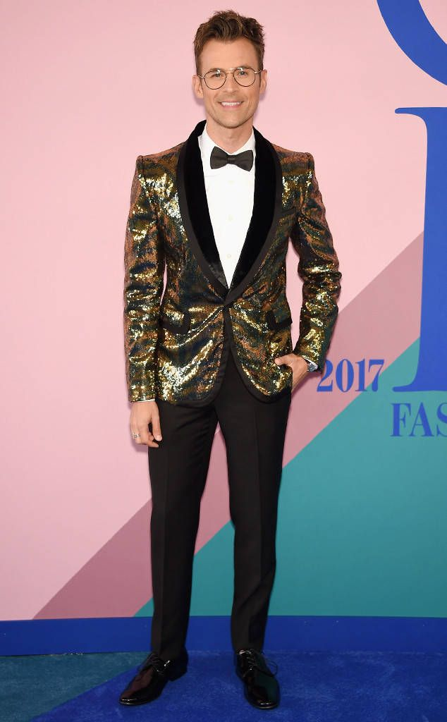 Brad Goreski from CFDA Fashion Awards 2017: Red Carpet Arrivals  The Fashion Police co-host and stylist goes for a bold, Marc Jacobs blazer for his evening out in New York City.