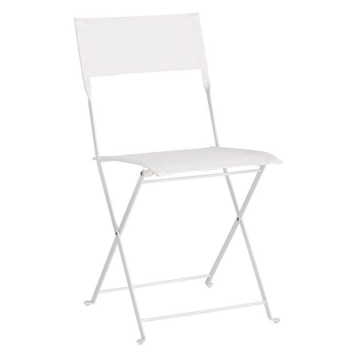 GRANGE Set of 2 white metal folding garden chairs | Buy now at Habitat UK