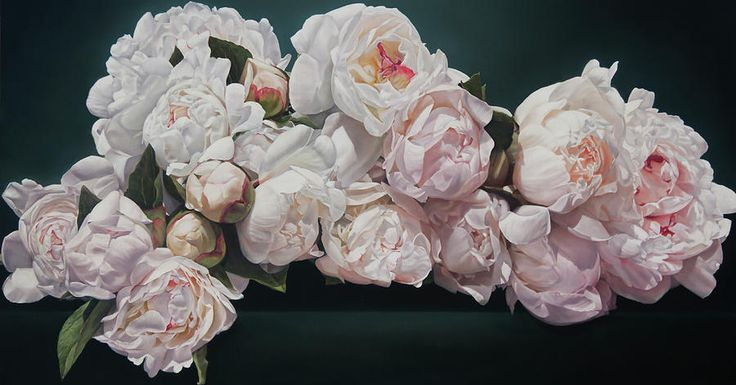 Peonies Painting - Peonies Cascade by Thomas Darnell