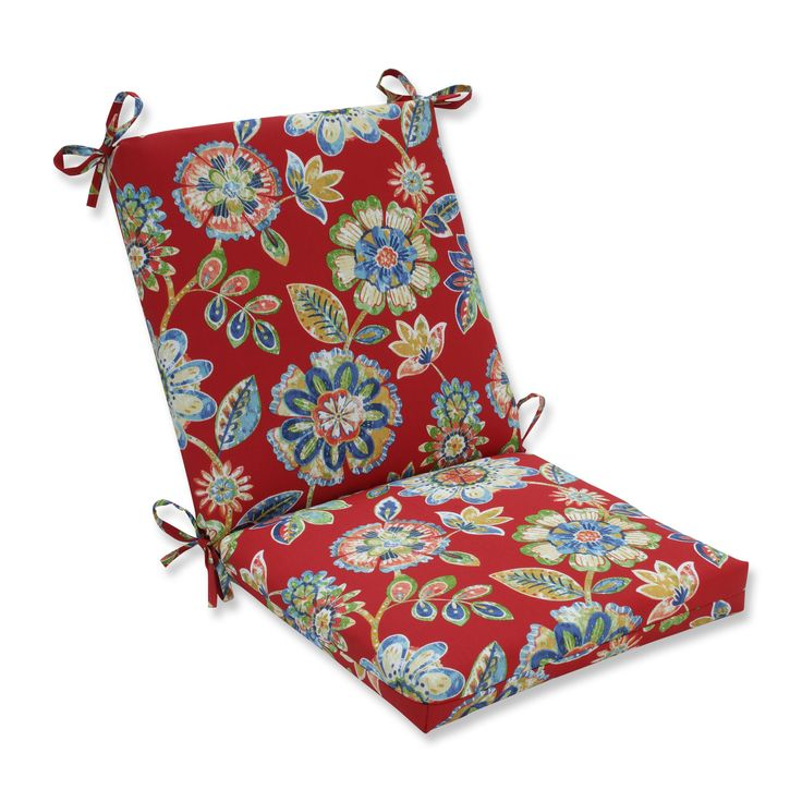 Pillow Perfect Outdoor/ Indoor Daelyn Cherry Squa Corners Chair Cushion