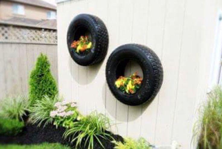 Tire pot wall