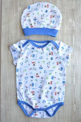 Энди. Студия детского трикотажа трикотаж, детская одежда, knit, knitwear, blue,  babywear, bodysuit, pirates, hat for baby