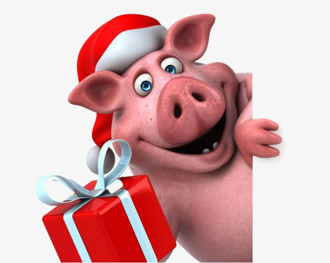Christmas Pig Material Free To Pull Pig Clipart Christmas Piggy Png And Vector With Transparent Background For Free Download Pig Illustration Pig Clipart Pig Crafts