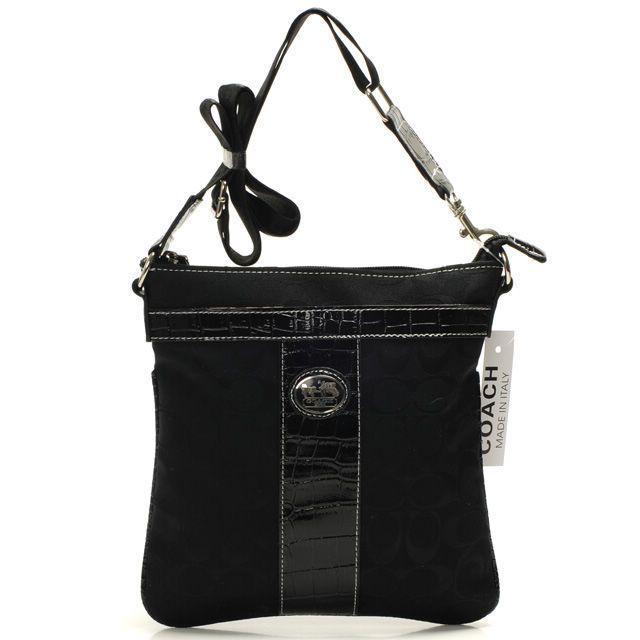 Coach Legacy Swingpack In Signature Medium Black Crossbody Bags BEG Give You The Best feeling!