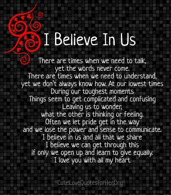I Believe In Us